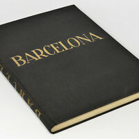 Barcelona 1920s Photo Book w/220+ gravures + Map - Rambla Marina Spain by Weber