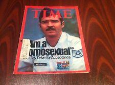TIME MAGAZINE SEPTEMBER 8,1975 I AM A HOMOSEXUAL GAY DRIVE NO TEARS FOLDS VG
