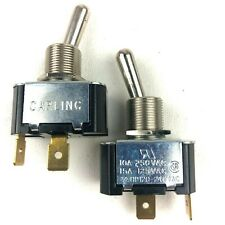 2pk Carling Toggle Switch 10A 250VAC 15A 125VAC 3/4 HP120 240VAC Free Shipping