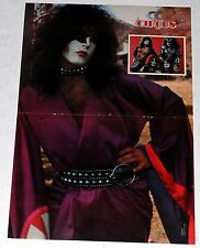 KISS '77 Rock And Roll Over Japan Paul Stanley Poster Magazine Centerfold Aucoin