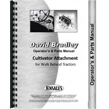 David Bradley Cultivator Operators Manual Parts Catalog For Walk Behind Tractor