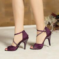 Brand New Ladies Latin Ballroom Salsa Dance Shoes 6cm High heeled Shoes US5.5-9