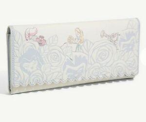 Loungefly Disney Alice in Wonderland Floral Wallet Cheshire Cat White Rabbit NEW