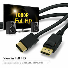 Gold 6ft DP1.2 DisplayPort to HDMI Cable,1080P Full HD Video for Lenovo Dell HP