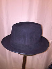 830) NWT auth STETSON size MEDIUM (7) navy blue FUR FELT Charger HAT retail $199