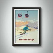 More details for sunshine village canada snowboarding travel poster - framed - bucket list prints