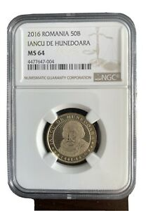 NGC MS 64  ROMANIA 50 BANI issue 2016 - IANCU DE HUNEDOARA