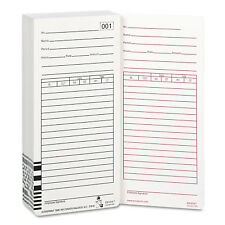 Acroprint Time Card for Es1000 Electronic Totalizing Payroll Recorder 100/Pack