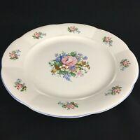 VTG Round Serving Chop Plate Platter Tabletops Unlimited Victoria Floral Bouquet