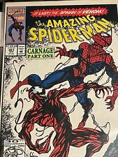 THE AMAZING SPIDER-MAN #361 RARE NEWSSTAND 1st FULL APPEARANCE of CARNAGE 1992