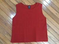 Eileen Fisher Women's Red Wool Tank Sleeveless Top Blouse Size M