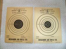 Vintage Benjamin Air Gun Paper Targets - One 25' & One 50'
