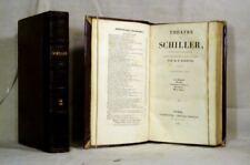 SCHILLER théatre CHARPENTIER 1840 2 VOLUMES relié BE