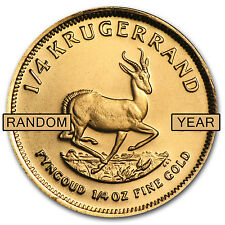 1/4 oz Gold South African Krugerrand Coin - Random Year Coin - SKU #1017
