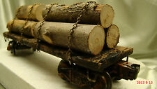 1  Logging Car - handcrafted, knuckle couplers, Lionel frame - custom weathered