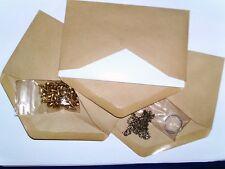 200 Stück kleine Briefumschläge / Versandtaschen 153 x 89 mm braun Sonderposten