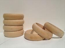 12 Wholesale Lot Wood Unfinished Narrow Round wooden bangles bracelet DIY