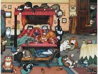 Linda Jane Smith BOUDOIR BEDLAM Kittens Cats Feline
