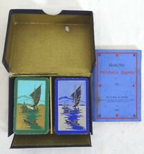 """VINTAGE """"PATIENCE"""" ART DECO PLAYING CARDS MINIATURE DD 52+1 EA CA:1933 GOODALL"""