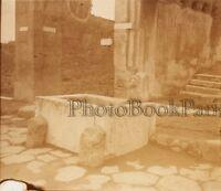 Pompei Italia Placca Lente Stereo