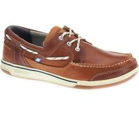 Sebago Triton Three-Eye Deck Boat Shoe Men's B81060 Tan/Brown Cognac NEW