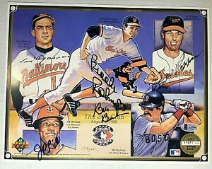 1992 Upper Deck Heroes of Baseball Signed Photo The 200 Club BAS Authenticated