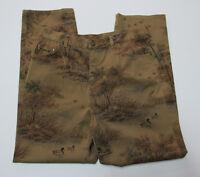 Vtg Lauren Sz 14 (34x30) Women's Pants Jeans Ducks Hunting Mallard Scenic Ralph