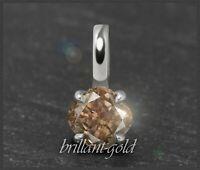 Diamant 585 Gold Damen Anhänger mit 0,42 ct, Cognac Champagner, VS; Gleiter NEU