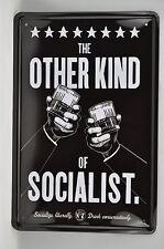 SOCIALIST VINTAGE TIN SIGN - T39