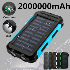 Large Capacity 2000000mAh Solar Power Bank 2020 New 2USB LED Battery Charger