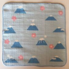 Japanese gauze handkerchief Mt.Fuji and Cherry Blossom pattern made in Japan
