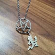 Hatchetman Pentagram Pure 925 Bright Polished Real Silver Men's Pendant