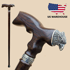 Fashionable Walking Stick Canes for Men Women - Eagle - Fancy Carved Wooden Cane