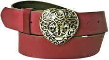 FRONHOFER Damengürtel Herz 4 cm Strass Herzschnalle, Herz Gürtelschnalle silber