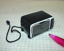 """Miniature Resin """"Toaster Oven"""", BLACK for DOLLHOUSE 1/12 Scale Miniatures"""