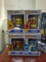 Pokemon Funko Lot Eevee Jolteon Flareon Vaporeon Set Of 4 POP! Figures Collector