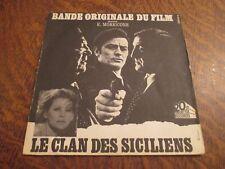 """45 tours bande originale du film """"le clan des siciliens"""" musique ENNIO MORRICONE"""