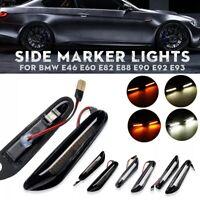 Side Marker Lights Turn Signal Lamps Pair For BMW E46 E60 E82 E88 E90 E92 E93