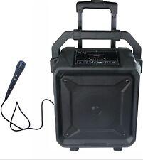 Bluetooth Karaoke Machine System w/ wired Microphone, Guitar In, Usb, Sd, Fm