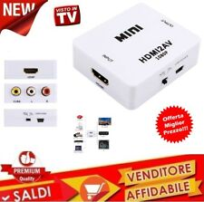 Adattatore convertitore da HDMI a segnale AV CVBS RCA Audio video PAL NTSC USB