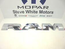 15-18 Dodge Ram 1500 Tailgate Large R A M Emblem Letters Set Chrome Mopar OEM