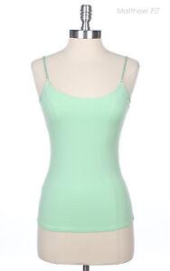 Basic Solid Plain Spaghetti Strap Cotton Camisole Layering Tank Top Gym S M L