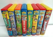 THE WIGGLES Lot of 8 VHS Videos  Kid's Tapes Hoop Toot Yummy Safari Steve Irwin