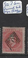 SARAWAK (PP2307B)   12 C    SG7  CANCEL S IN DIAMOND  LAID PAPER  VFU