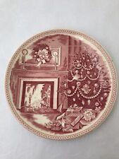"Christmas Eve Plate Josiah Wedgwood Williams Sonoma England 9"" Holidays Decor"