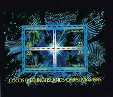 COCOS Islands 1985 CHRISTMAS Minisheet  MNH - Night Sky through PALM Trees.