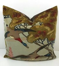 "Mulberry Flying Ducks In Velvet a Fabric -  23"" x 23"" a Statement Cushion Cover"