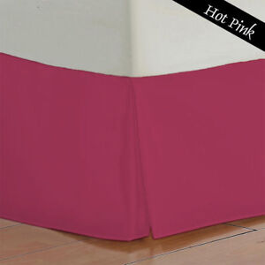 Hot Pink Solid Bed Skirt Select Drop Length All US Size 1000 TC Egyptian Cotton