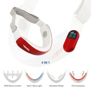 4in1 EMS Face Lifting V Shape Massage Heating Vibration Facial Photon Massager