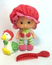 "Strawberry Shortcake Cherry Cuddler 4"" Doll Kenner '79 Complete Gooseberry Brush"
